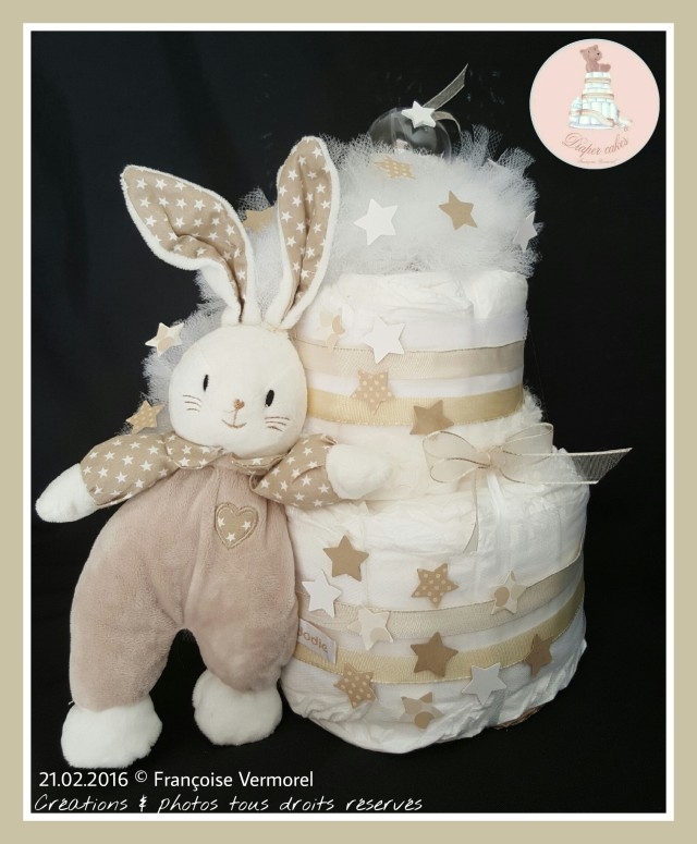 Diaper Cake Dodie Mon Doudou d'Amour