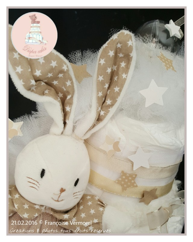 Diaper Cake Dodie Mon Doudou d'Amour zoom