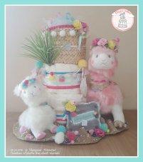 Un gâteau sur le thème du lama en mode fête